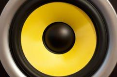Amarele o altofalante Imagem de Stock Royalty Free