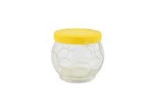 Amarele o frasco de vidro Fotos de Stock