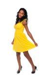 Amarele o vestido Fotos de Stock