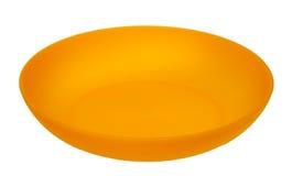 Amarele a placa plástica Imagens de Stock Royalty Free