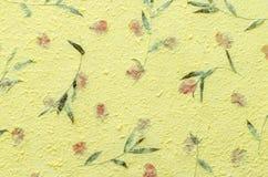 Amarele a textura do papel do mulberry Foto de Stock Royalty Free