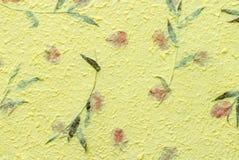 Amarele a textura do papel do mulberry Imagens de Stock
