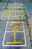 Amarelinhas engraçadas (números) Foto de Stock
