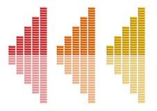 Amarelo alaranjado vermelho da coleção dos gráficos Fotos de Stock Royalty Free