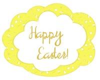 Amarelo brilhante cartão de Páscoa modelado Imagem de Stock Royalty Free