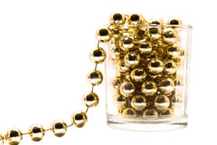Amarelo chain branco isolado golde do retrato do ouro Foto de Stock Royalty Free