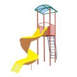 Amarelo da corrediça das crianças imagens de stock royalty free