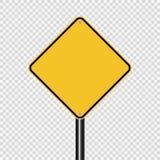 amarelo da estrada do sinal do símbolo no fundo transparente ilustração do vetor