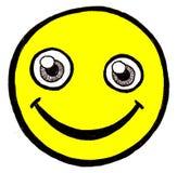 Amarelo da face do smiley fotografia de stock royalty free