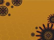 Amarelo da flor 3 do fundo Fotografia de Stock Royalty Free