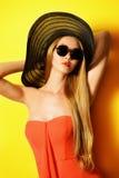 Amarelo da forma fotografia de stock royalty free