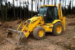 Amarelo da máquina da máquina escavadora Imagem de Stock Royalty Free