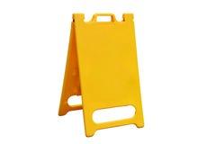 Amarelo da placa de dobrar um sinal na estrada foto de stock