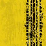 Amarelo da trilha do pneu Foto de Stock