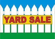 Amarelo da venda do quintal Foto de Stock Royalty Free