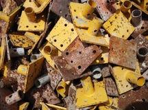 Amarelo de aço do fundo do teste padrão Imagens de Stock Royalty Free