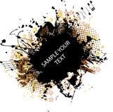 Amarelo do frame do grunge da música ilustração royalty free