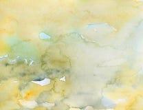 Amarelo do fundo da aquarela Imagens de Stock Royalty Free