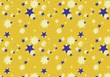 Amarelo do fundo da estrela Imagens de Stock