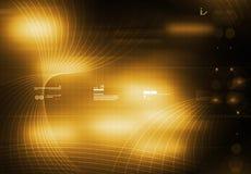 Amarelo do fundo de Tecnology Imagens de Stock