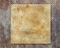 Amarelo do metal textured Fotos de Stock Royalty Free