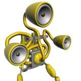 Amarelo do robô da música ilustração stock