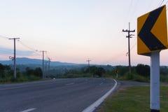 Amarelo do sinal de estrada Imagem de Stock