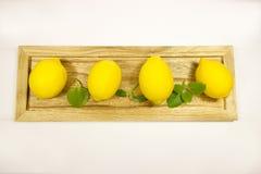 Amarelo dos limões Fotografia de Stock Royalty Free