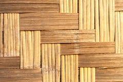 Amarelo dourado do weave de bambu Fotografia de Stock Royalty Free