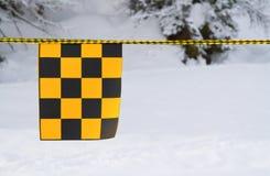 Amarelo e bandeira negra imagem de stock royalty free