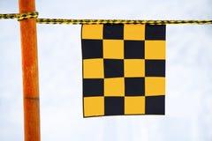Amarelo e bandeira negra foto de stock royalty free