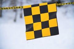 Amarelo e bandeira negra foto de stock