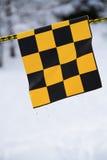 Amarelo e bandeira negra fotos de stock royalty free
