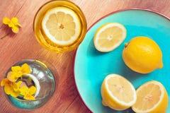 Amarelo e ciano Imagem de Stock Royalty Free