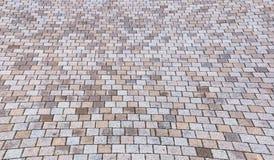 Amarelo e Gray Brick Stone de Duotone na terra para a rua Roa Fotografia de Stock Royalty Free
