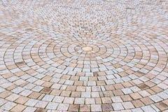 Amarelo e Gray Brick Stone de Duotone na terra para a rua Roa Fotos de Stock