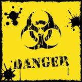 Amarelo e preto do ícone do biohazard do vetor Fotografia de Stock