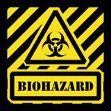 Amarelo e preto do sinal do biohazard do vetor Fotografia de Stock