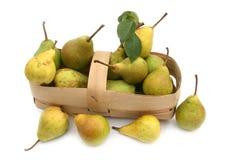Amarelo e verde da pera Fotos de Stock