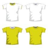 amarelo em branco do t-shirt Foto de Stock