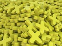 Amarelo mais Fotografia de Stock