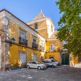 Amarelo pałac w Portalegre mieście Obrazy Royalty Free