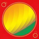 Amarelo para o fundo do círculo Foto de Stock