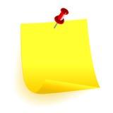 Amarelo pegajoso ilustração royalty free