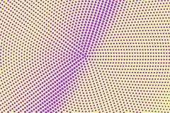 Amarelo roxo reticulação pontilhada Fundo de intervalo mínimo Inclinação pontilhado áspero radial Fotos de Stock Royalty Free