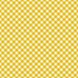 Amarelo sem emenda do teste padrão de pano de tabela Foto de Stock