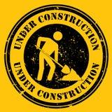 Amarelo sob o ícone da construção Fotos de Stock Royalty Free