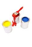 Amarelo, vermelho, azul imagens de stock royalty free