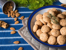 Amaretti almond biscuits Royalty Free Stock Images