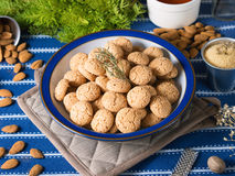 Amaretti almond biscuits Royalty Free Stock Photo